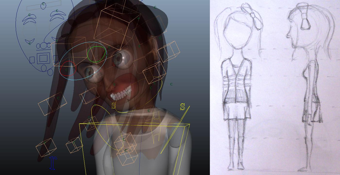 3D Sarah X-ray + concept