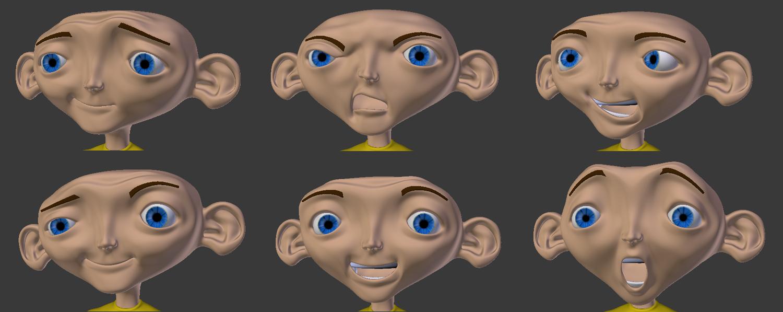 Steve Blender 3D faces
