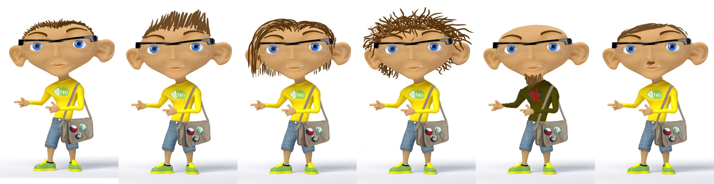 Steve Blender 3D hairstyles