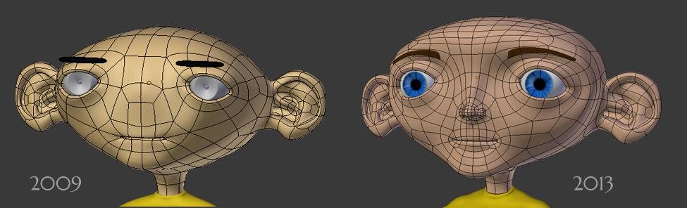 Steve Blender 3D wire evolution